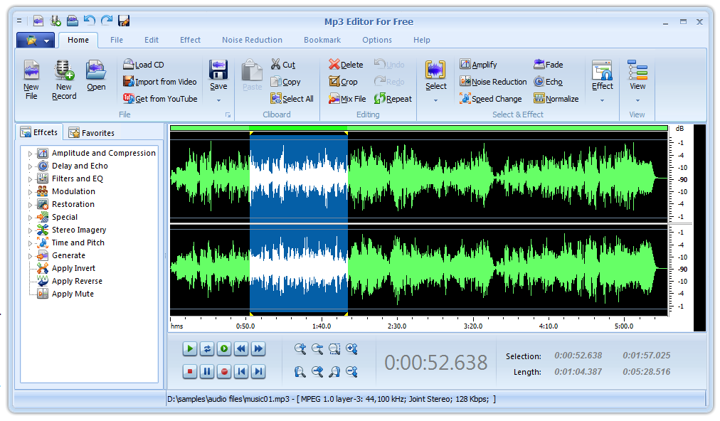 MP3 Editor for Free full screenshot